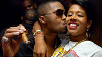 Nas & Kelis at birthday bash