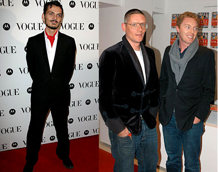 Matthew Williamson, Giles Deacon & Stuart Vevers