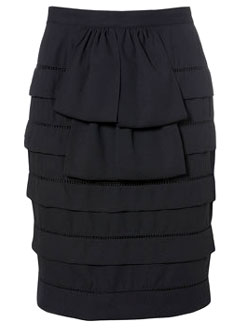 Topshop - Pleated ruffle skirt
