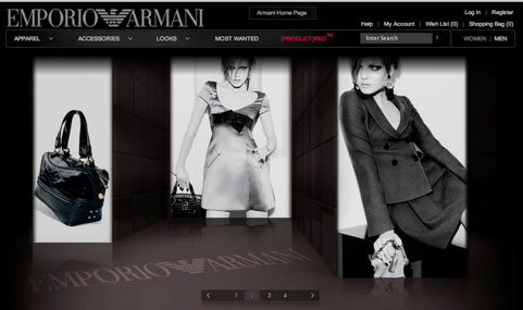 Armani launches online store