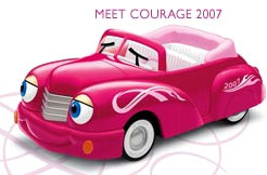 Breast Cancer Awareness: Chevron Cars
