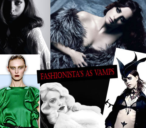 Halloween Special: Fashionistas as Vamps