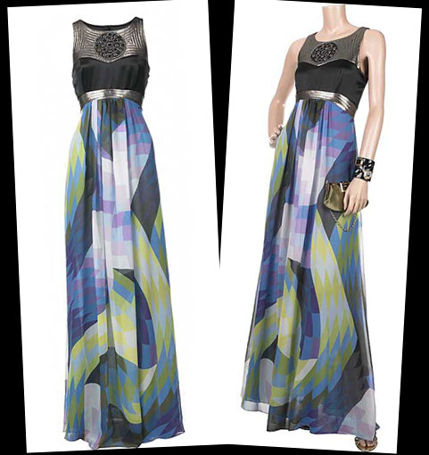 10 days 10 party dresses: Harlequin print maxi dress by Matthew Williamson