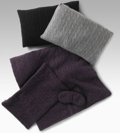 Holiday Gift Guide 2007: Sophia Cashmere Cable Travel Set