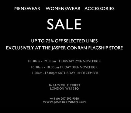 Sales: Up to 70% off at Jasper Conran!