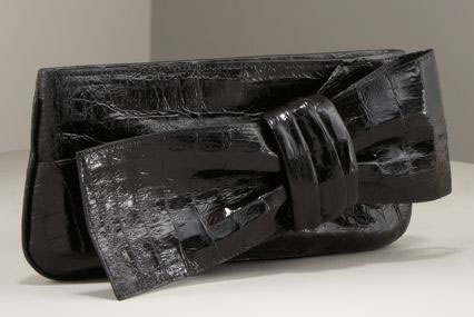 Shopping: Nancy Gonzalez Bow Croc Clutch