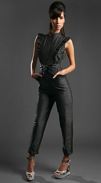 Shopping: PPQ Silk Duppion Ruffle Jumpsuit
