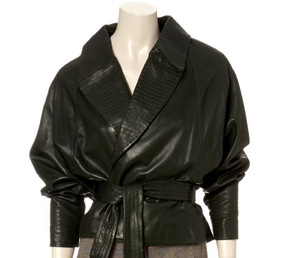 Shopping: Amanda Wakeley, Batwing Sleeve Leather Jacket