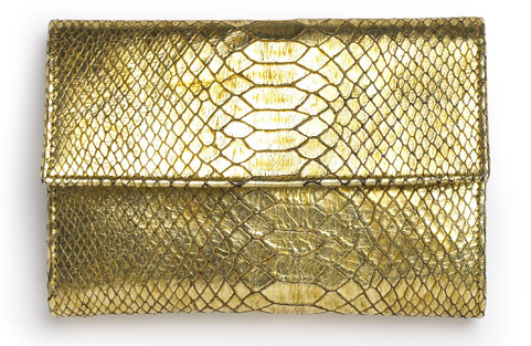 Shopping: Gold Python Blackberry Purse