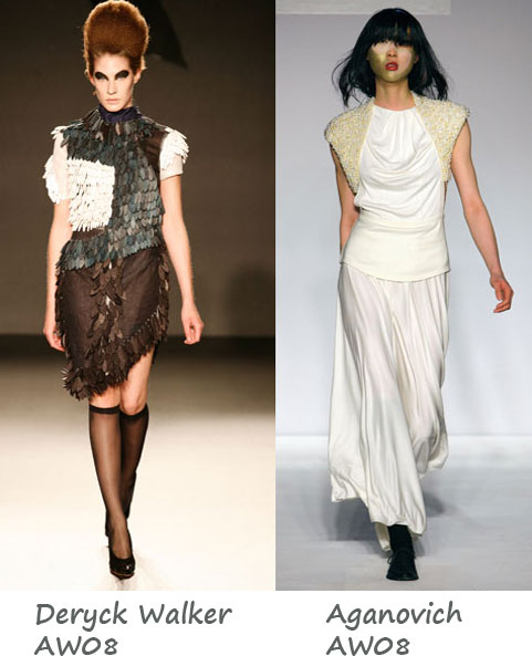 LFW AW08 Favourite Shows: Aganovich & Deryck Walker