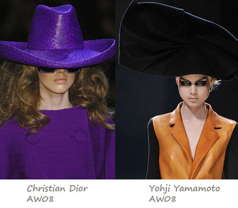 AW08 Trends: Great big hats in Paris!