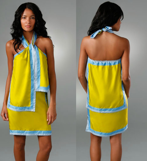 Shopping: Colour-block Scarf Dress