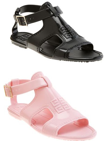 80's Throwback That Works: Givenchy Jelly Gladiators