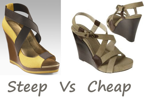 Steep Vs. Cheap: Canvas Wedge Sandals