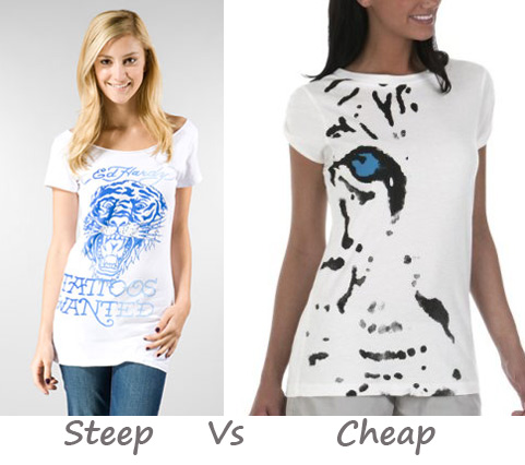Steep vs. Cheap: Tiger Print Tees