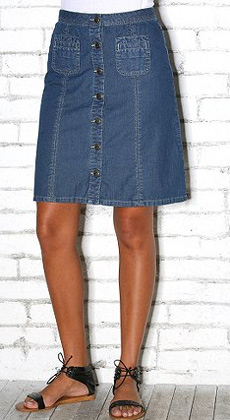 Style buttoned up: The Denim Skirt