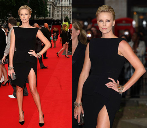 Fashion Fix: Charlize Shines At Hancock Premiere