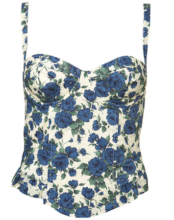 Lust of the week: Topshop Floral Print Corset