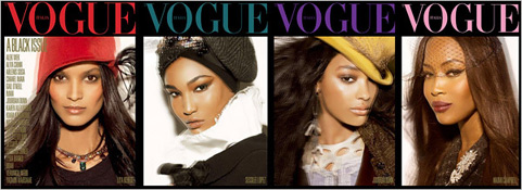 Vogue Italia's All Black Issue For July