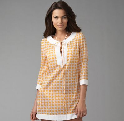 Beachwear: Shoshanna Knot Print Cover-Up