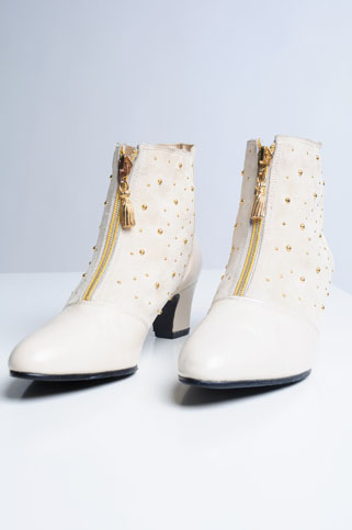 Nasty Gold Stud Booties