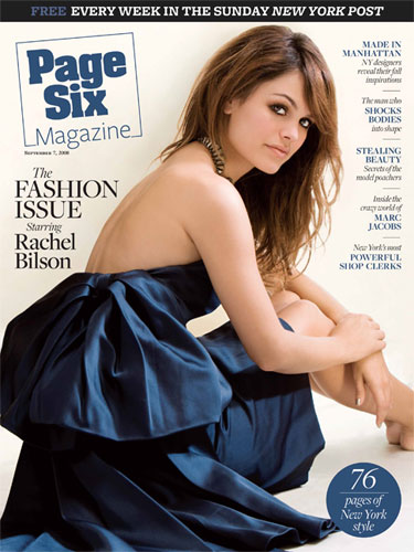 Rachel Bilson Graces the Cover of Page Six