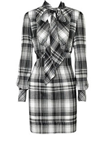 Oasis tartan dress