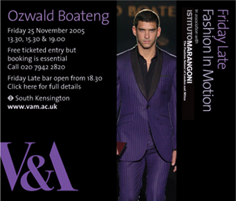 Ozwald Boateng 20th Anniversary