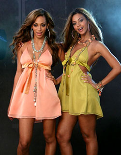 Solange & Beyonce Knowles modelling House of Dereon