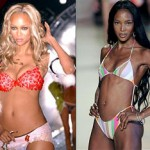Tyra and Naomi kiss and makeup