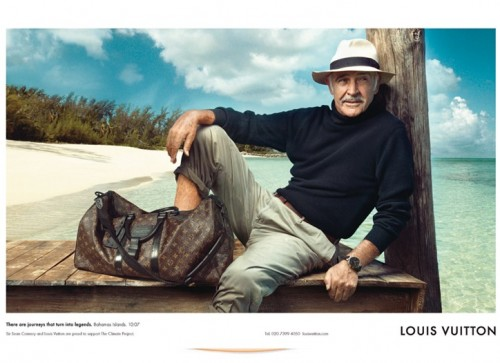 Sean Connery is Louis Vuitton's next top model