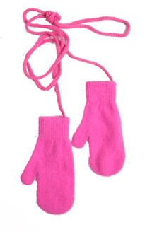 Brighten up your winter wardrobe with pink mittens