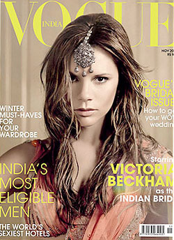 Victoria Beckham does Vogue India. Thoughts?