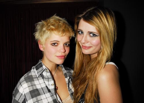Pixie Geldof and Mischa Barton at Bureau Club London