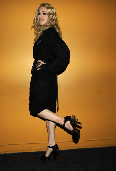 Madonna and her revolving heels