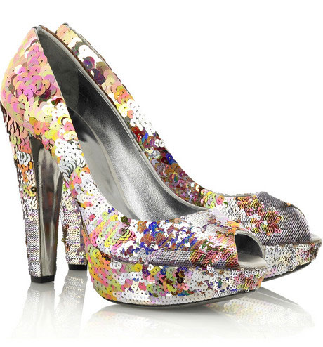 Miu Miu Sequin Platform Pumps