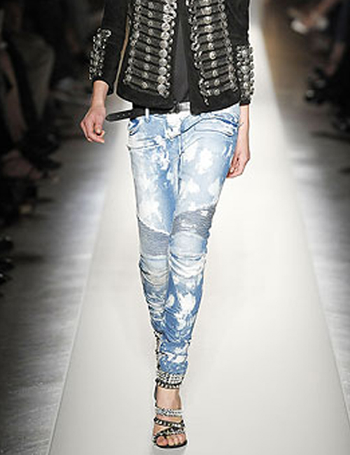 Credit crunching fashion: Balmain jeans
