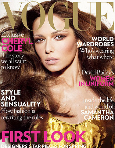 Cheryl Cole on Vogue. Yet another bland cover.