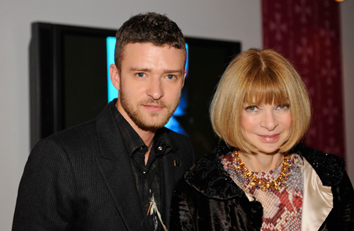 Justin Timberlake and Anna Wintour, best friends forever?