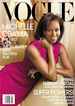 Michelle Obama wears Jason Wu again for the cover of Vogue
