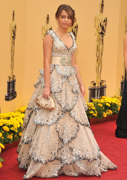 The Oscars 2009: Miley Cyrus