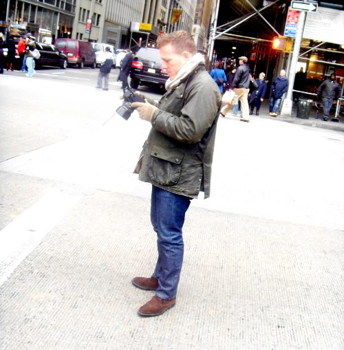 The Sartorialist at work