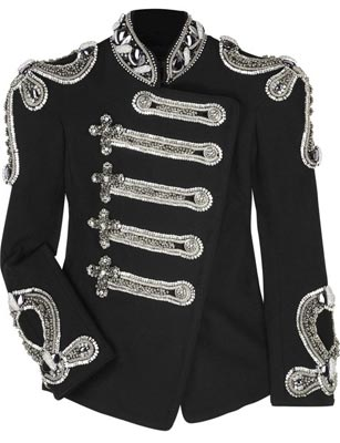 Balmain Crystal Crystal-embellished canvas jacket