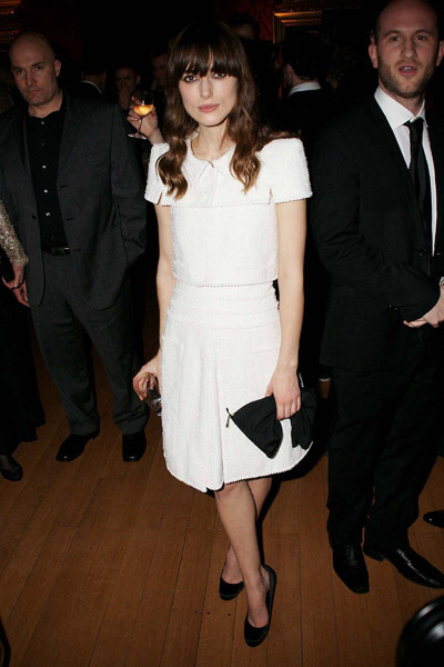 Keira Knightley is all shoulders in Chanel