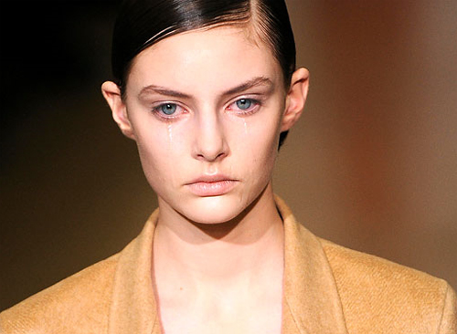 Why did the model cry at Jil Sander?