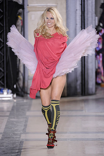 Pamela Anderson steals the limelight at Vivienne Westwood