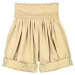 Chloe high-waisted cotton shorts