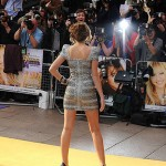 Miley Cyrus grows up in Herve Leger