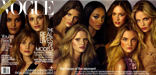 Vogue is bursting with fabulous faces