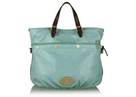 Turquoise Mitzy Tote by Mulberry